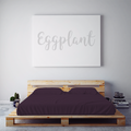 $55 EGGPLANT September Feature Sheet Set ~ XL Dorm Twin Size