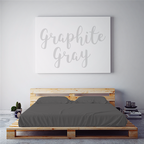 $55 GRAPHITE GRAY August Feature Sheet Set  ~ Regular King Size