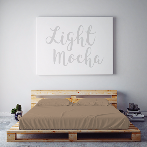 $55 LIGHT MOCHA November Feature Sheet Set ~ XL Twin Dorm