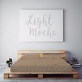 $55 LIGHT MOCHA November Feature Sheet Set ~ Queen Size