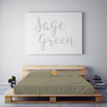 $75 SAGE GREEN September Feature Duvet Cover Set ~ King/California King Size