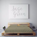 $55 SAGE GREEN September Feature Sheet Set ~ Twin Size
