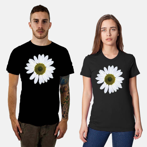 Black Daisy Wheel T-Shirt