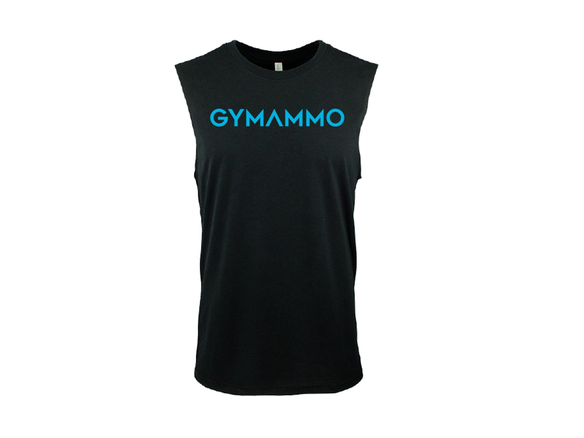 Men's Bold Muscle Tank - Black/Turquoise
