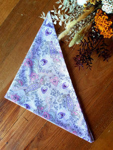 Purple Paisley Neck Scarf