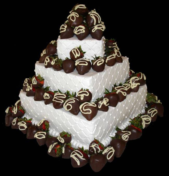 16 Chocolate Dipped Strawberry Wedding Cake Ideas Candy