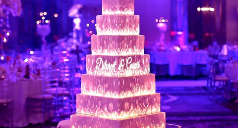 3D Projection Wedding Cake