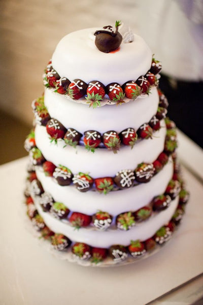 5 Tier Chocolate Dipped Strawberry Wedding Cake