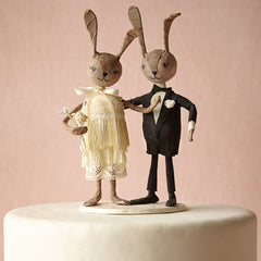 Rabbit Rabbit Wedding Cake Topper