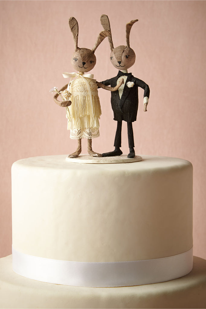 BHLDN's Rabbit Rabbit Wedding Cake Topper