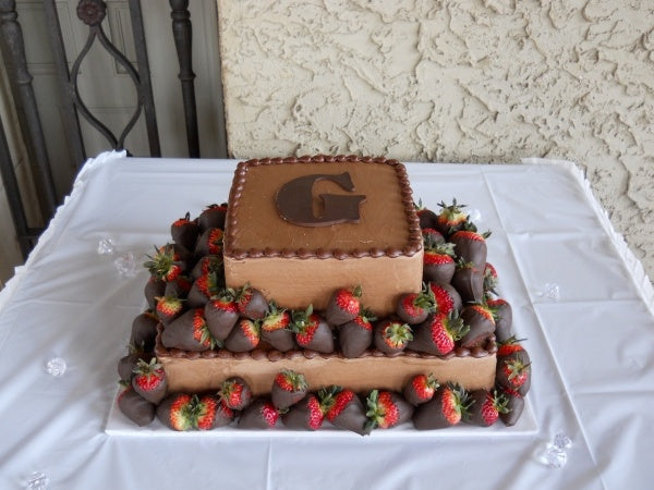 Milk Chocolate Dipped Strawberry Groom's Cake