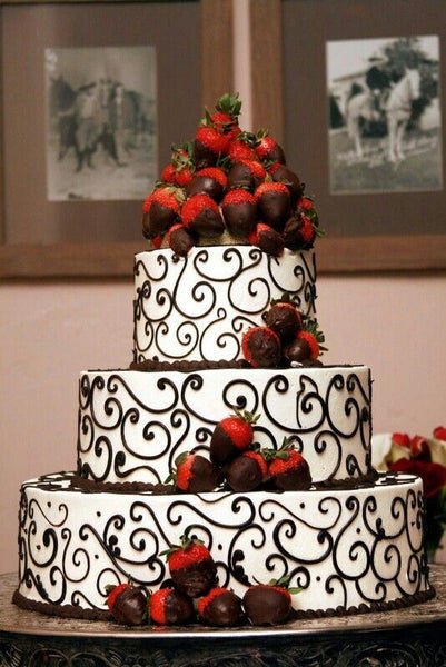 Chocolate Dipped Strawberry Wedding Cake
