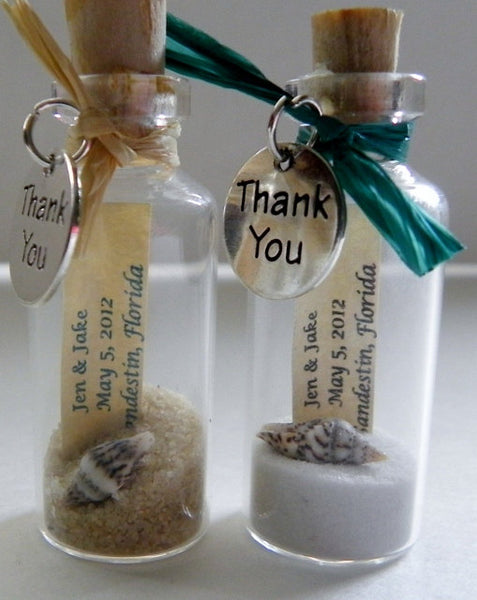 A Personalised Wedding Gift Message : Beach Wedding Favors in a Bottle Candy Cake Weddings