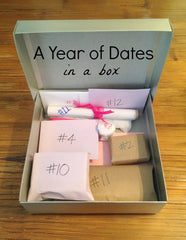 A Year of Dates Easy Anniversary Gift Idea