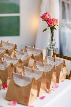 Paper Bag DIY Bird Seed Wedding Favor