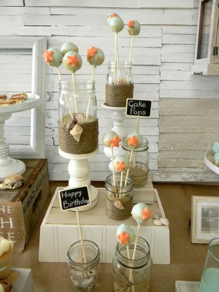 Starfish Themed Beach Cake Pops