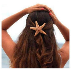 Orange Starfish Beach Wedding Hair Accessory