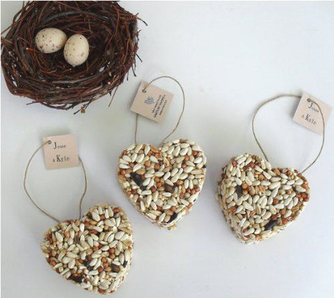 DIY Bird Seed Wedding Favor