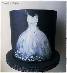 Painted Dress Wedding Cake