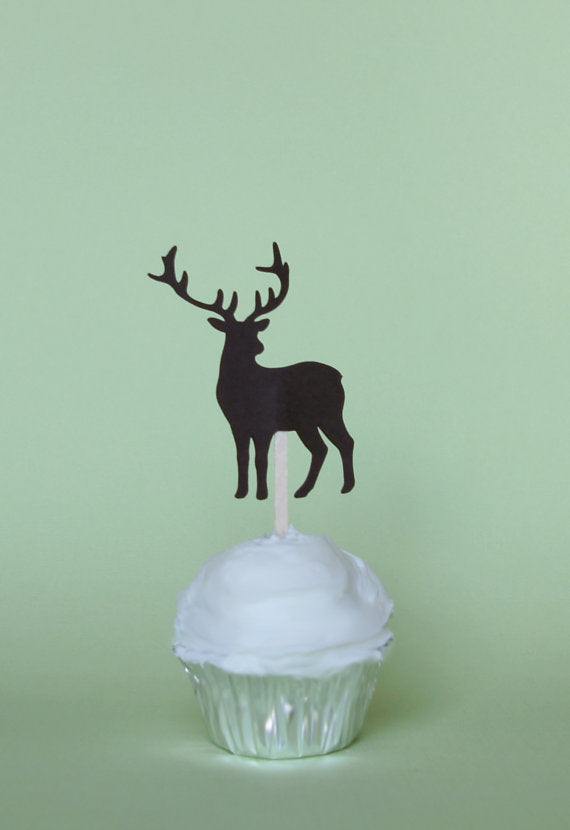 Buck Silhouette on top of a Cupcake