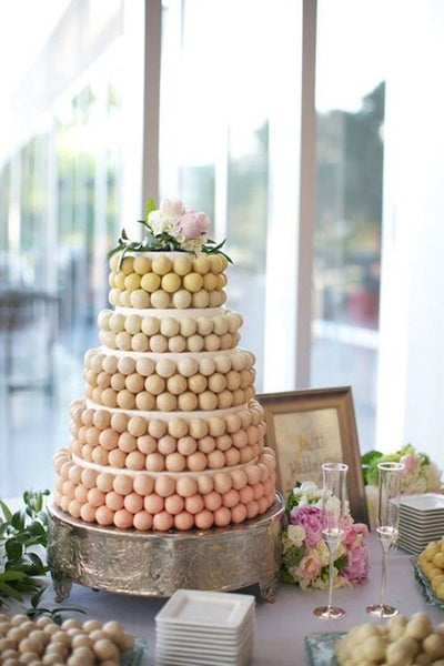 Yellow Cake Pop Wedding Cake