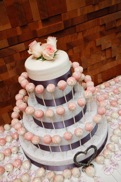 Wedding Cake with Cake Pops