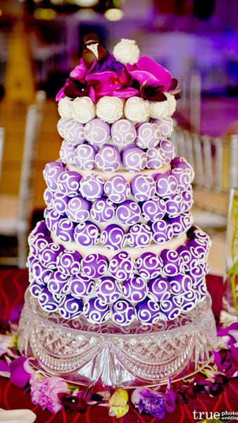 Lavender Swirl Cake Pop Wedding Cake