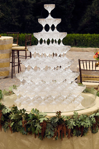 Colin Cowie Weddings Champagne Towers