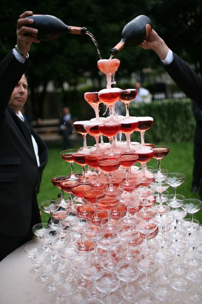 Amazing Blush Champagne Tower