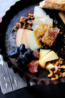 Gourmet Cheese, Fruit and Honeycomb Snack Platter