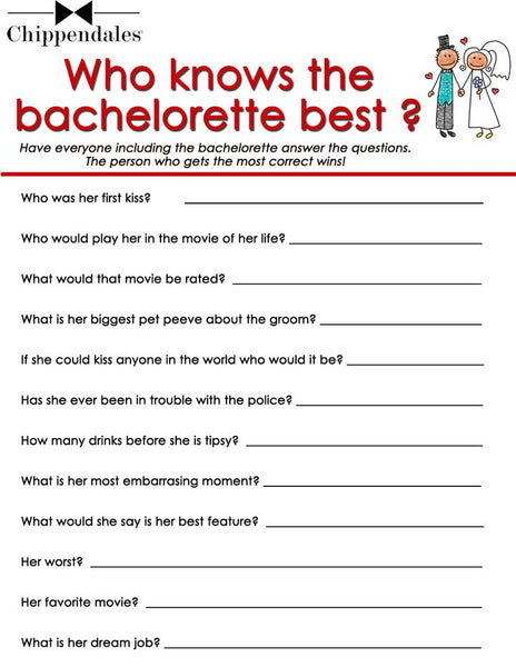 Chippendales Bachelorette Party Drinking Games And Rules