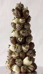 Large Tower of Chocolate Covered Strawberries
