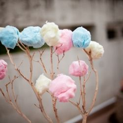 Cotton Candy Wedding Trees