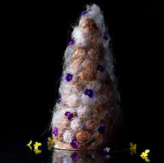 Wedding Croquembouche covered in Spun Sugar