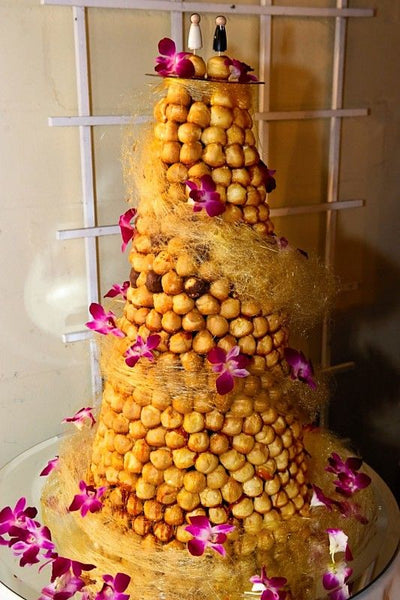 Chocolate Croquembouche Wedding Cake