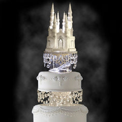 Disney Castle and the Glass Slipper Fairy Tale Wedding Cake