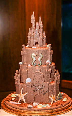 Disney's Sand Castle Wedding Cake