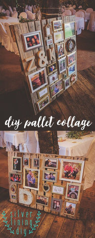 DIY Photo Collage on a Pallet Frame