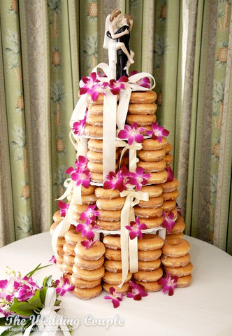 Donut Wedding CAke with Wedding Cake Topper