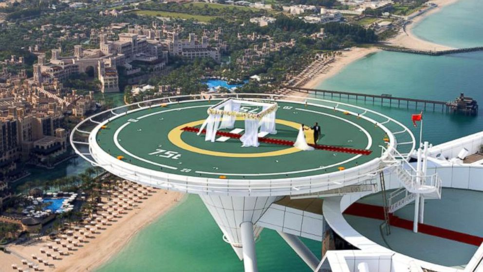 Helipad Wedding on Offer at Famous Dubai Hotel