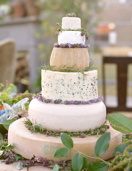 Wedding Cake made with Farm Fresh Cheese Rounds