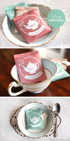 Wedding Favor Tea Ideas