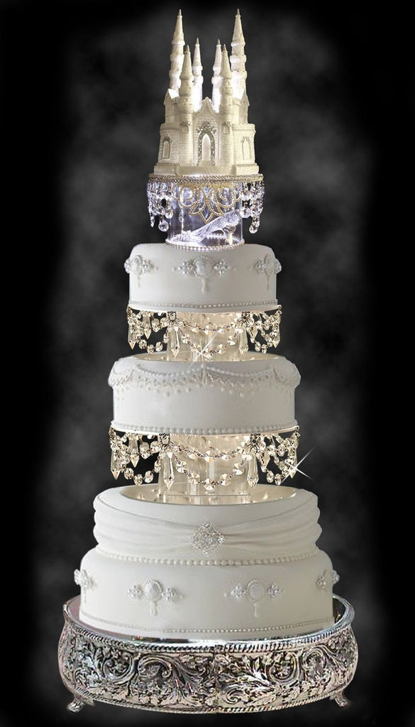 The Disney Castle and the Glass Slipper Fairy Tale Wedding Cake