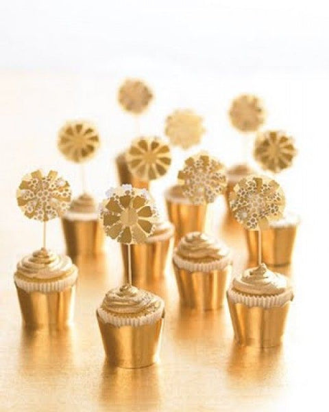 Gold Cupcakes with Gold Frosting