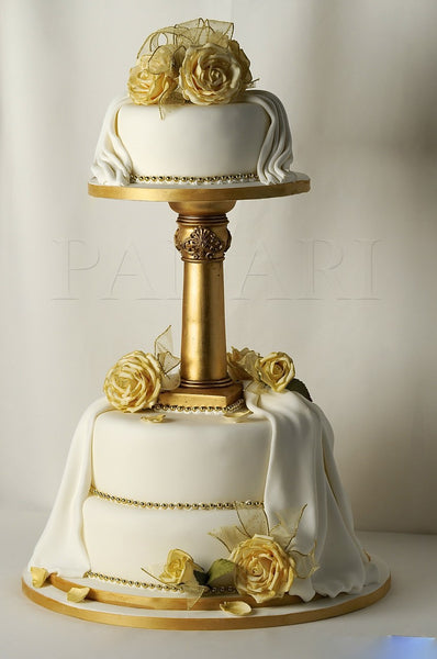 Pinterest Gold Wedding Cake