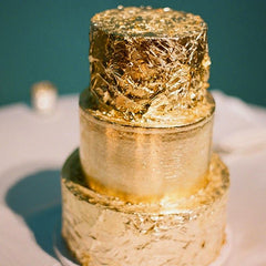 Edible Gold Wedding Cake