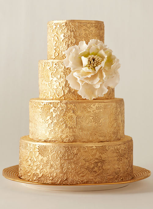 The Big Fat Jewish Wedding Gold Wedding Cake