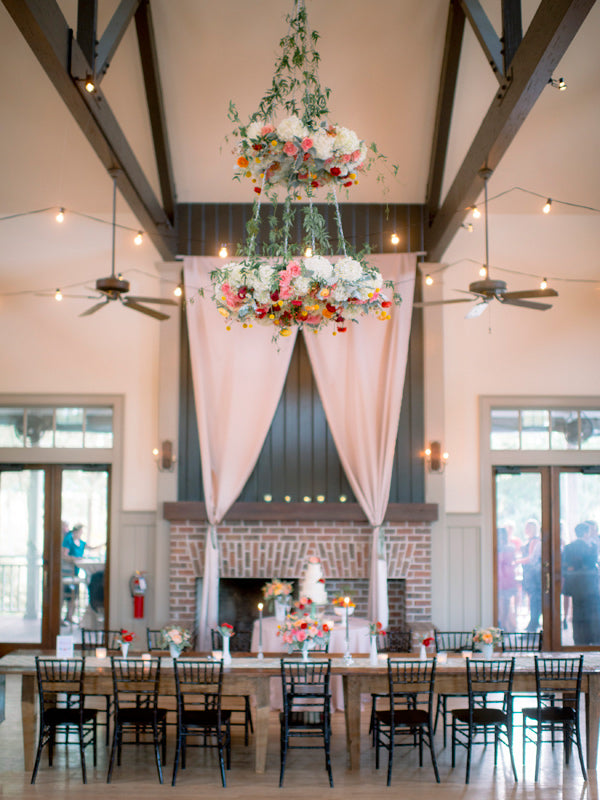 Spring Flower Souther Wedding Style Chandelier
