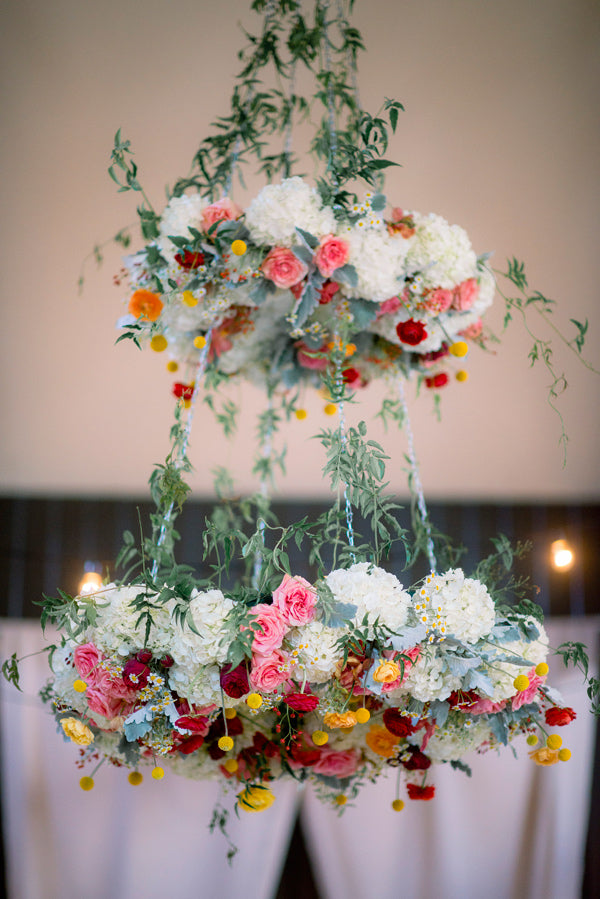 Spring Flower Wedding Chandelier