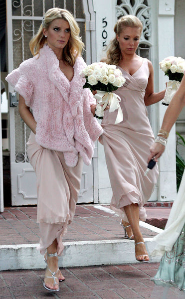 Pretty in Pink Jessica Simpson's Bridesmaid Dress